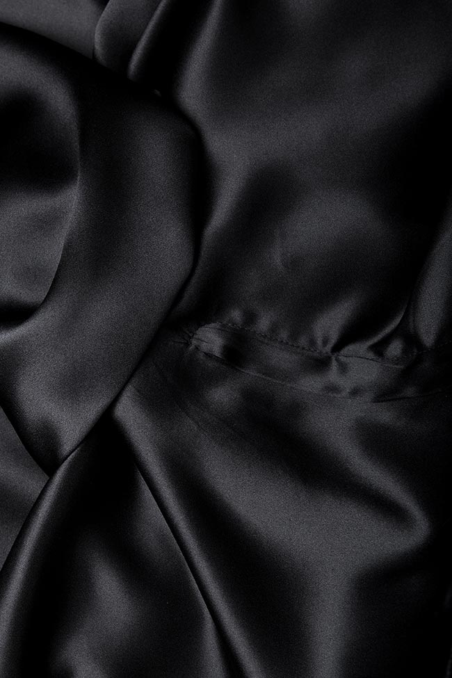 Silk-satin wide-leg pants Aureliana image 4