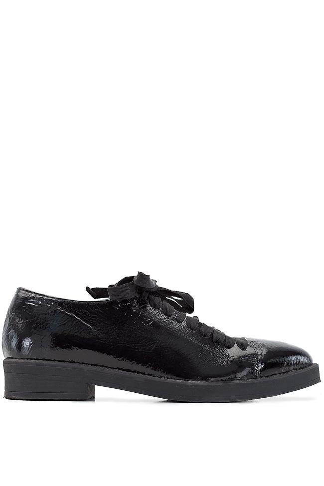 Pantofi din piele lacuita Zenon imagine 0