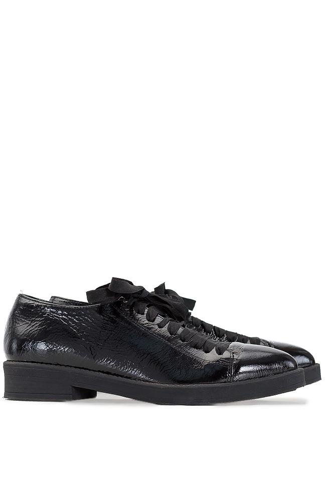 Pantofi din piele lacuita Zenon imagine 1