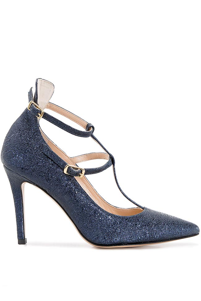 Glittered leather pumps Ginissima image 0