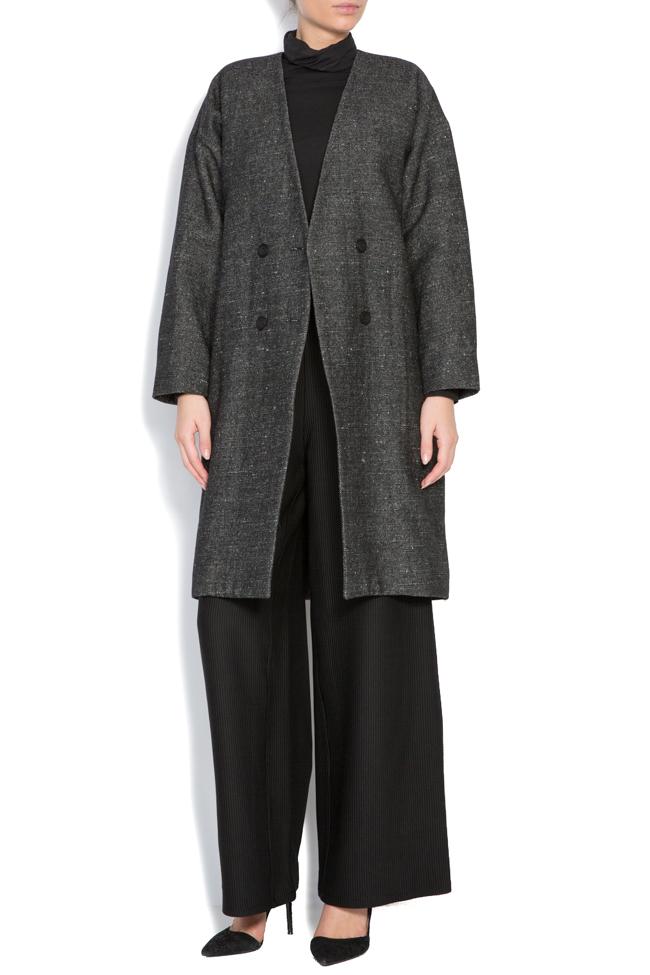 Palton din lana Undress imagine 0