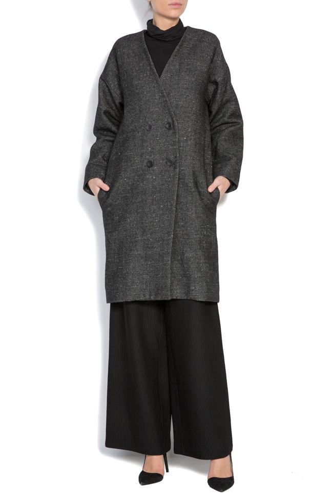 Palton din lana Undress imagine 1