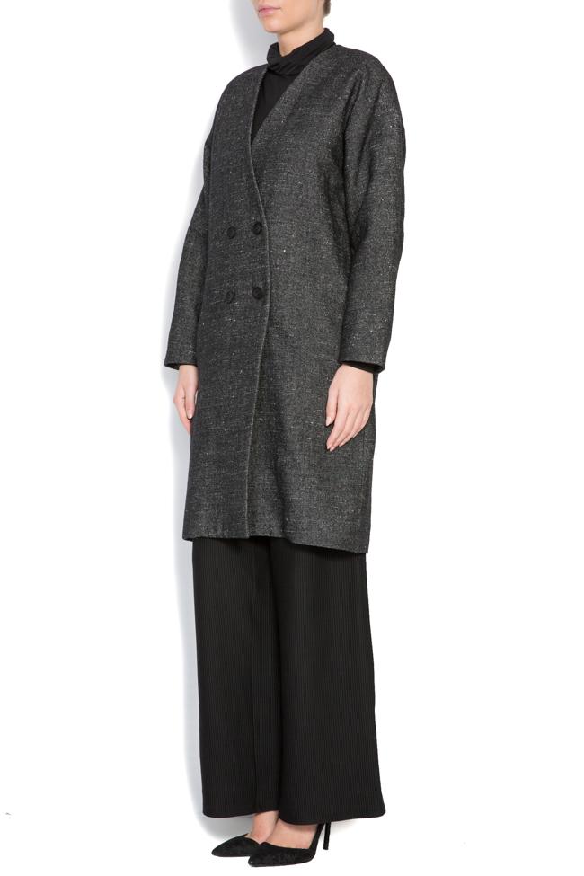 Palton din lana Undress imagine 2