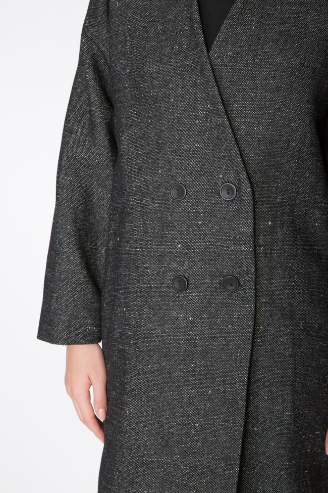 Palton din lana Undress imagine 4