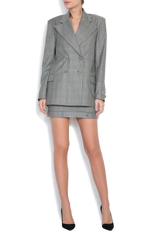 Checked wool tweed blazer OMRA image 0