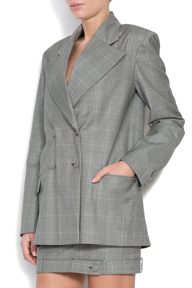 Checked wool tweed blazer OMRA image 1