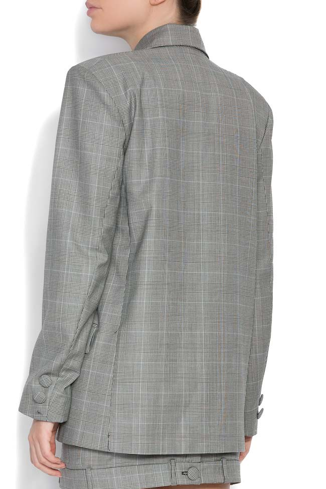 Checked wool tweed blazer OMRA image 2