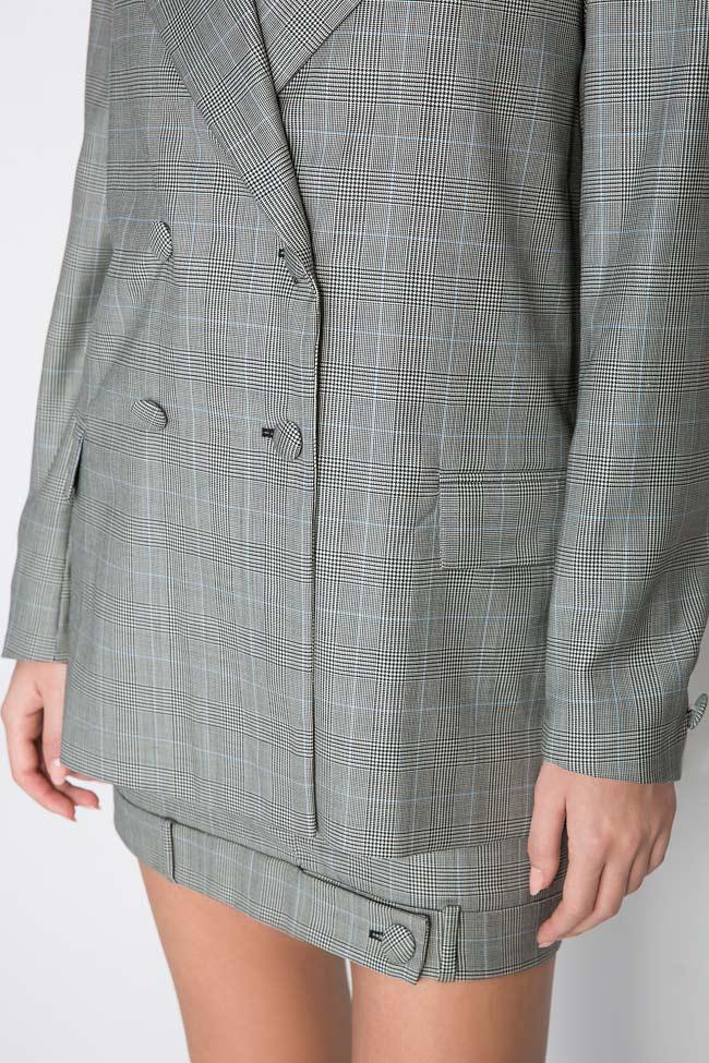 Checked wool tweed blazer OMRA image 3