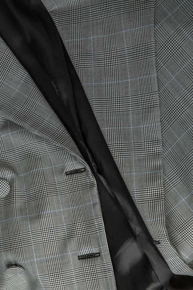 Checked wool tweed blazer OMRA image 5