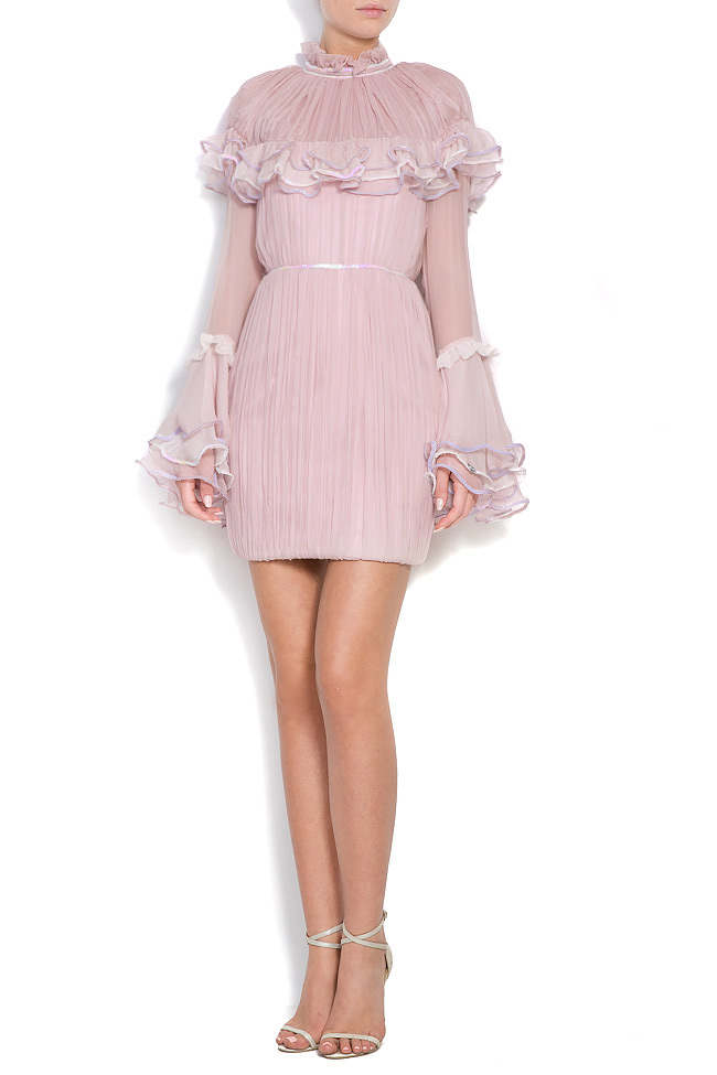Ruffled silk-chiffon sequined dress Alexandru Raicu image 0