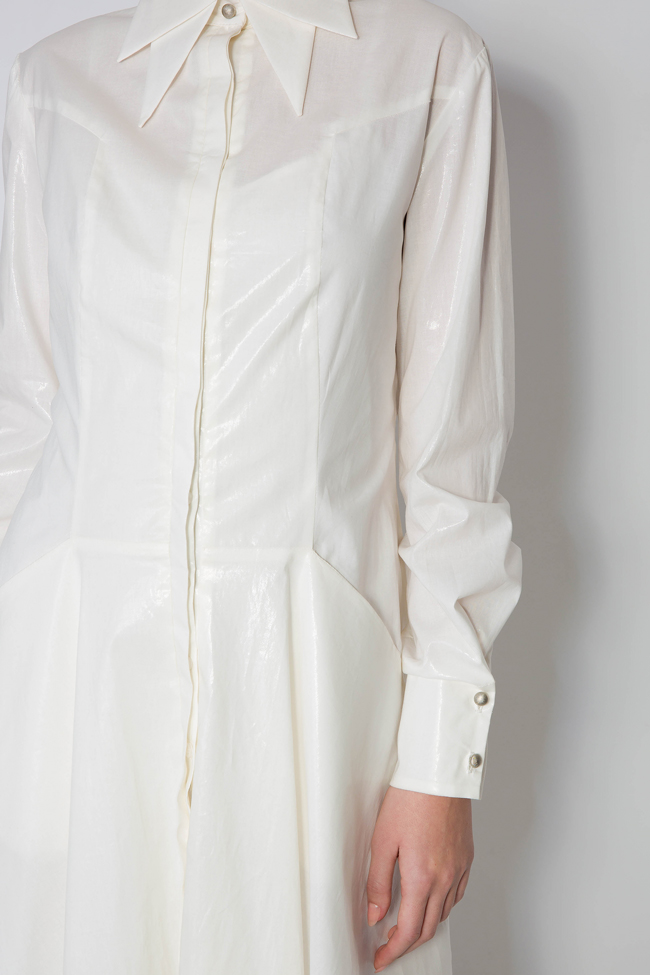 7e07557eb10e8 Coated cotton shirt dress - Midi Dresses made to measure