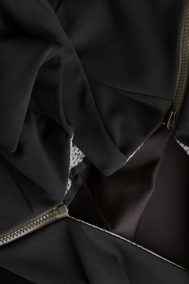 Detachable crepe gilet Larisa Dragna image 5