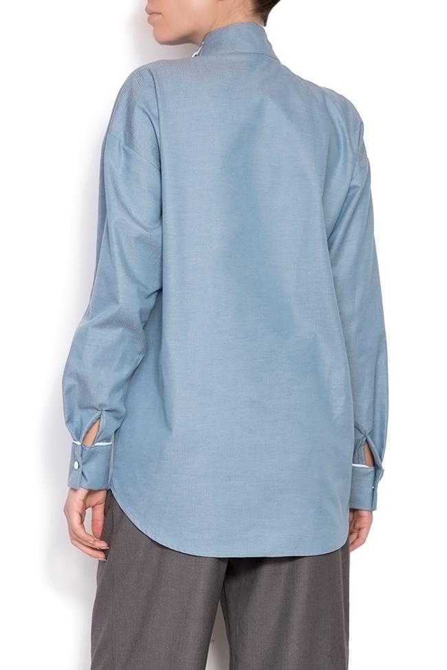 Misha pussy-bow cotton poplin shirt Framboise image 2