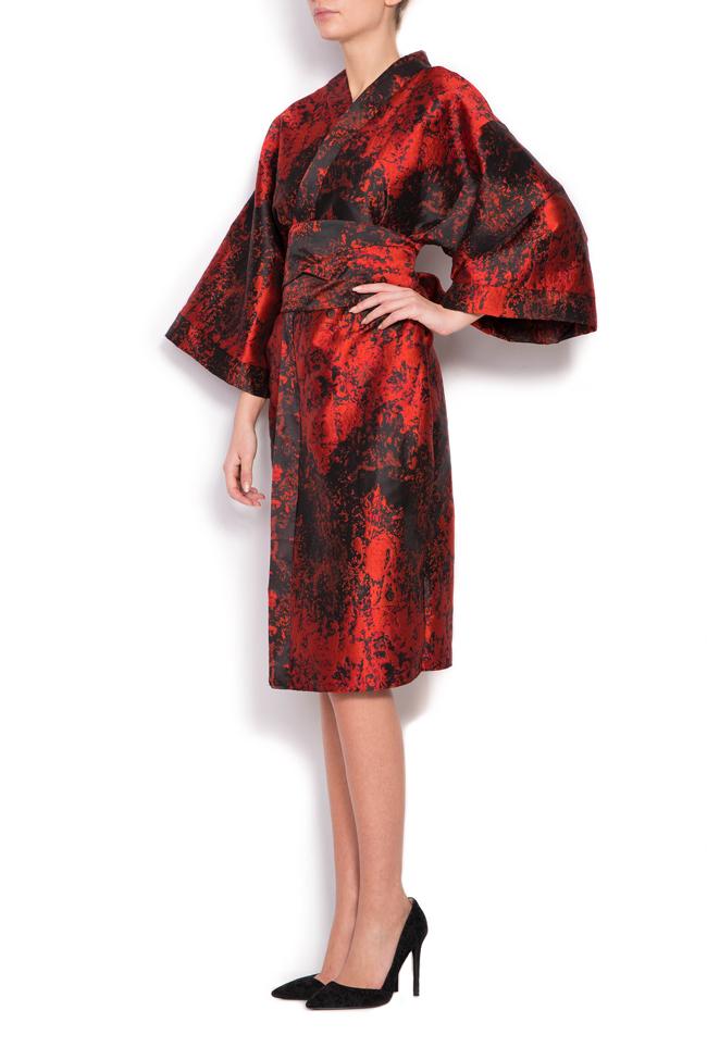 Rochie chimono din brocard din amestec de matase Cloche imagine 1