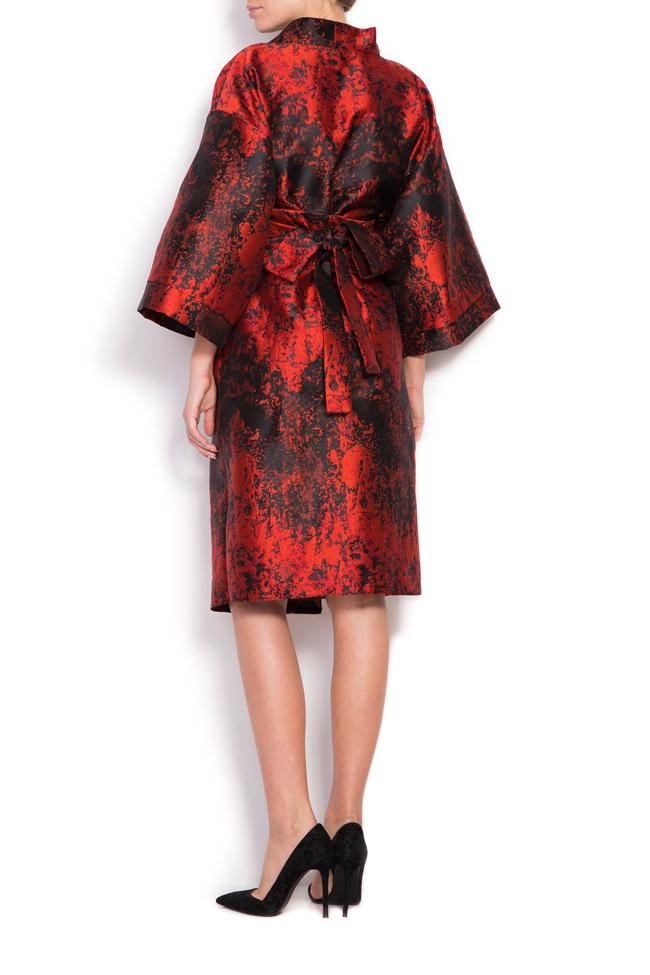 Rochie chimono din brocard din amestec de matase Cloche imagine 2