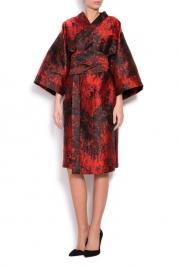 Cloche Silk-blend brocade kimono dress