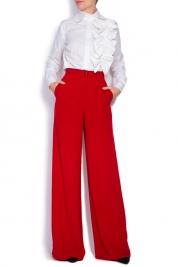 Cloche Pantaloni din crep cu talie inalta