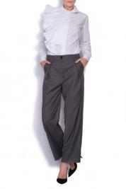 Cloche pantaloni din stofa cu talie inalta