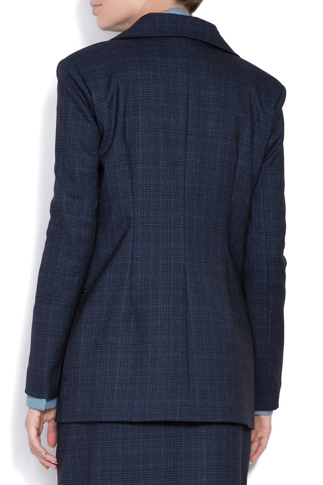 Checked wool-blend blazer Cloche image 3
