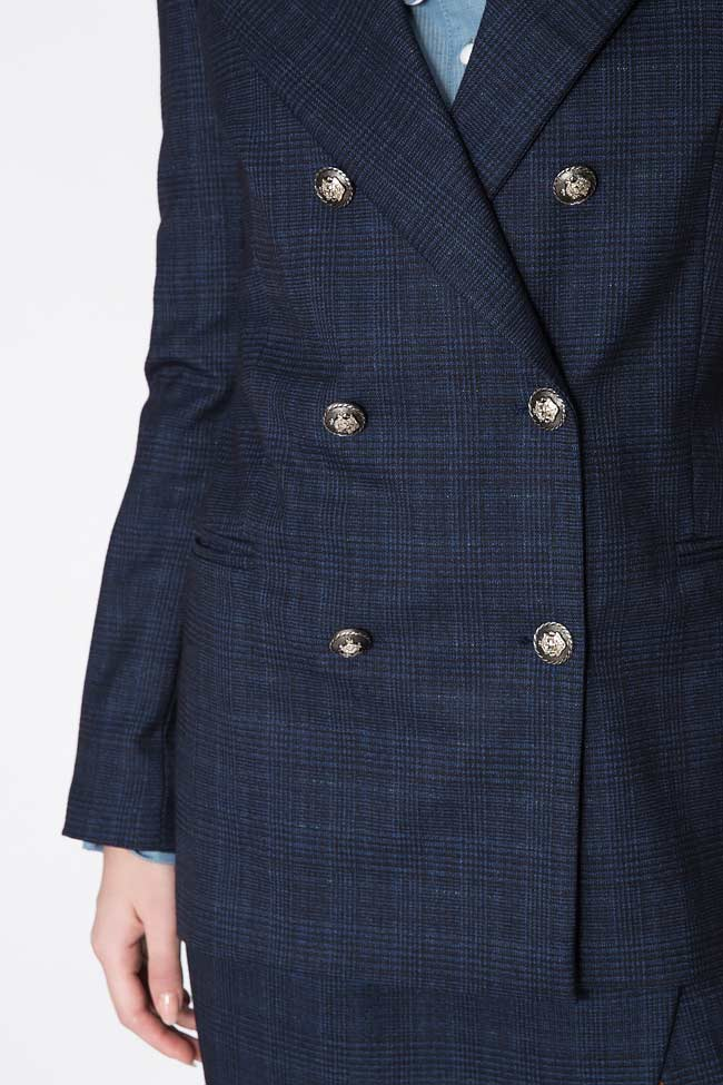 Checked wool-blend blazer Cloche image 4