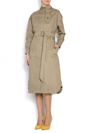 Framboise Robe trench en coton Ery