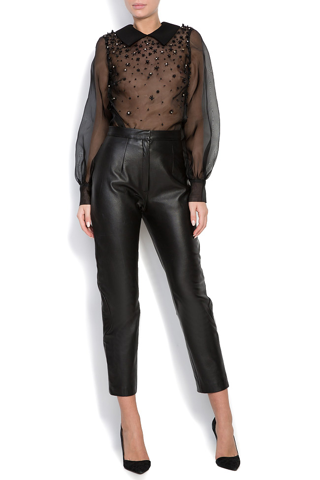 Embellished silk-organza top M Marquise image 0