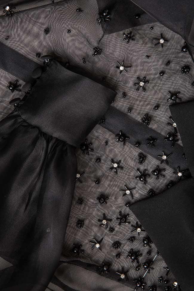 Bluza din organza de matase si aplicatii M Marquise imagine 4