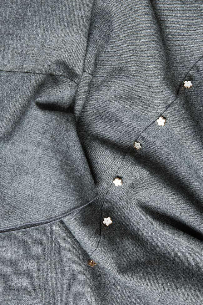 Rochie din amestec de lana cu volan Lena Criveanu imagine 4