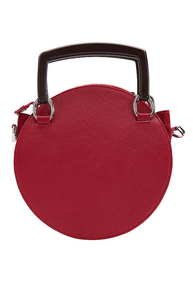 Ronda suede textured-leather and fur shoulder bag Giuka by Nicolaescu Georgiana  image 2