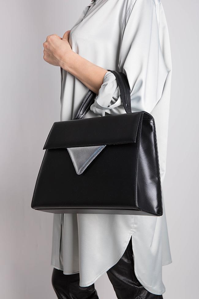 Two-tone leather bag Laura Olaru image 5