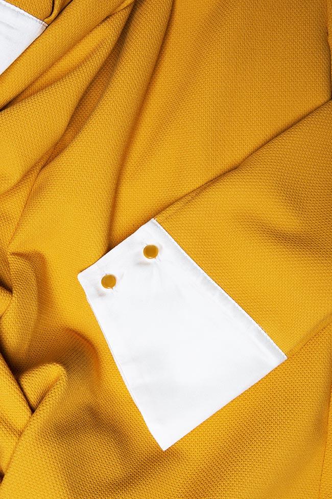 Salopeta din crep cu mansete din matase The Clouded Yellow DALB by Mihaela Dulgheru imagine 4
