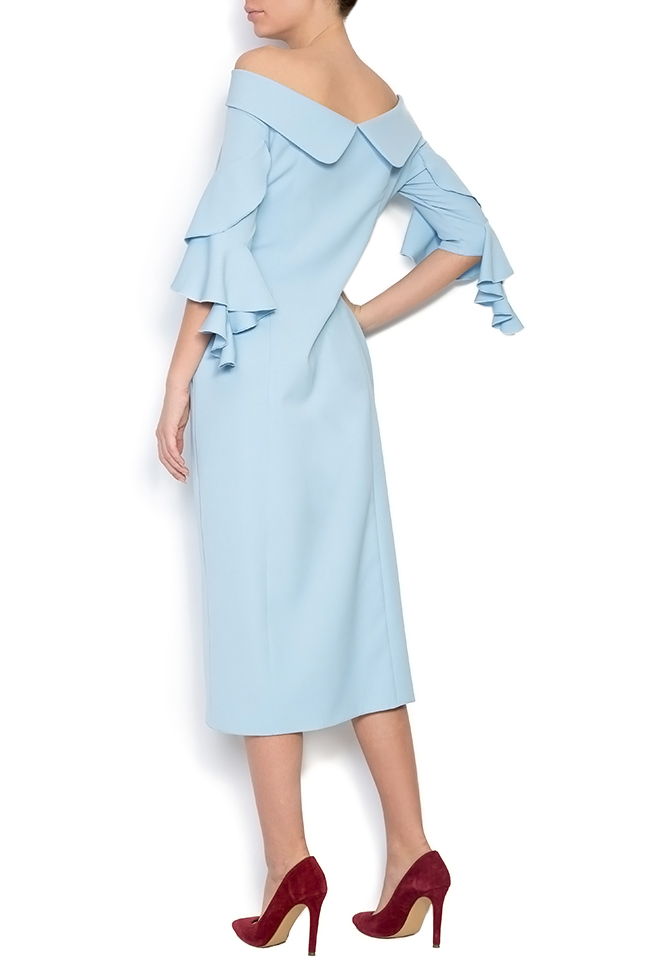 Pavo ruffled crepe midi dress LRM image 2