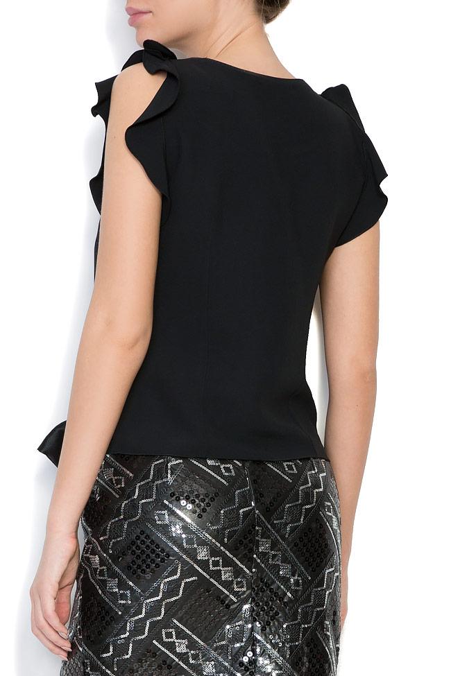 Bluza din crep cu aplicatii din cristale brodate manual Lena Criveanu imagine 2