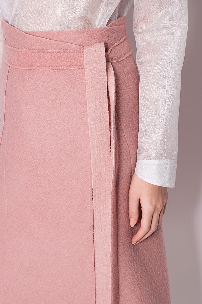 Wrap wool skirt Daniela Barb image 3