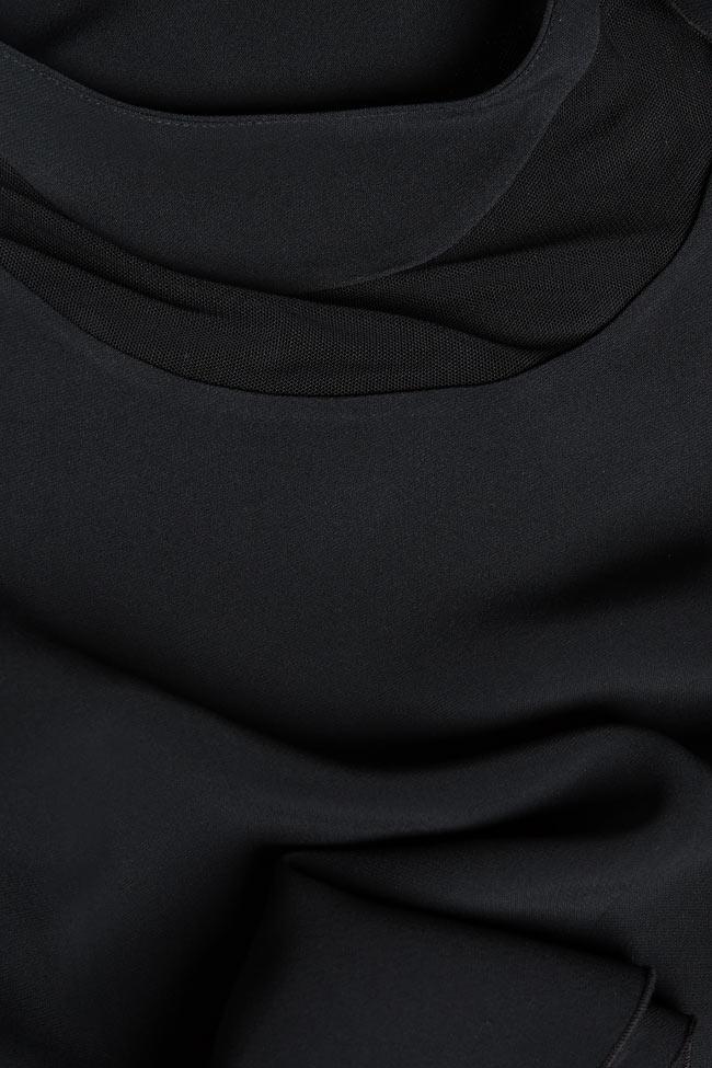 Rochie din crep cu guler tunica Lena Criveanu imagine 4