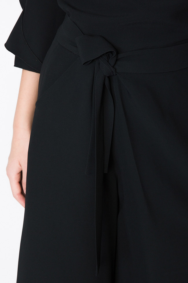 Belted crepe culottes Lena Criveanu image 3