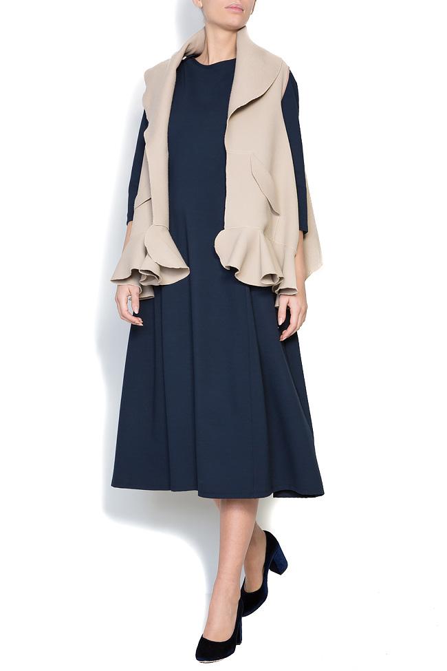 Frill wool-blend vest Lena Criveanu image 0