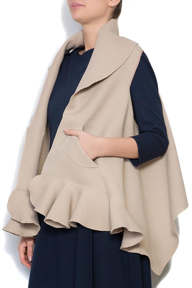 Frill wool-blend vest Lena Criveanu image 1