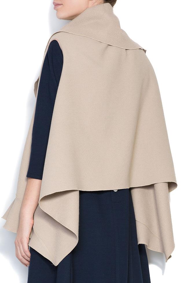Frill wool-blend vest Lena Criveanu image 2