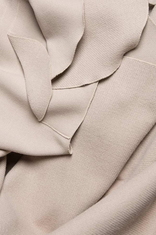 Frill wool-blend vest Lena Criveanu image 4