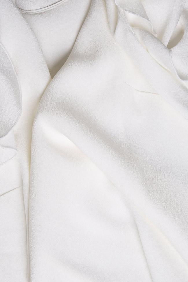 Bluza din crep cu volane Lena Criveanu imagine 4