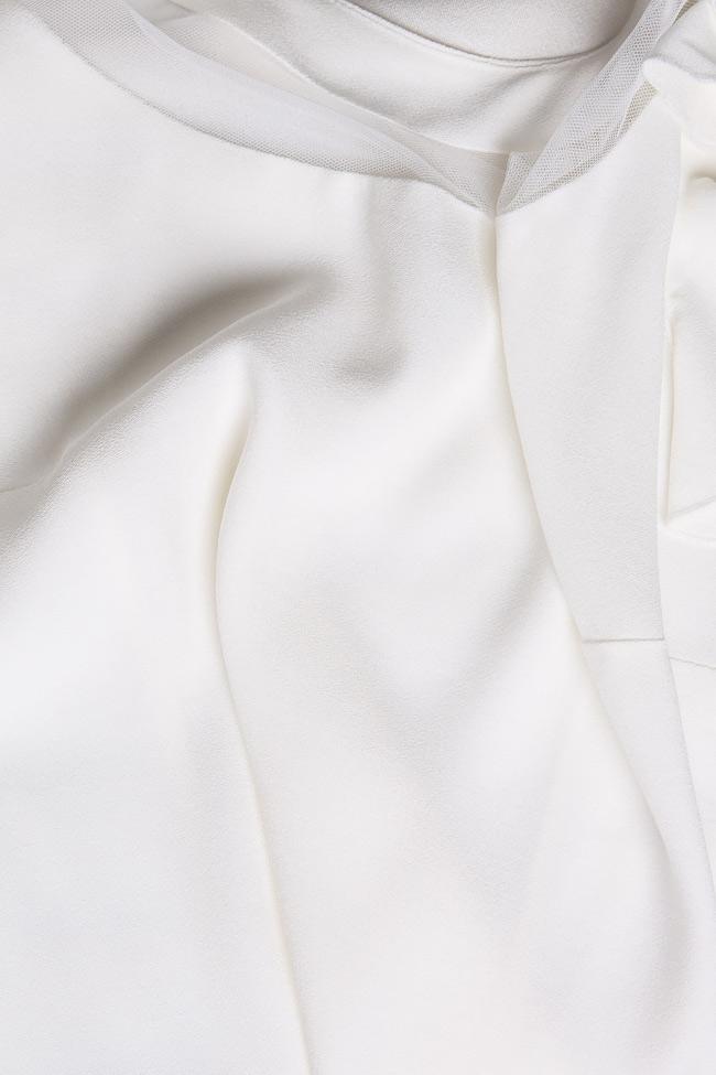 Bluza din crep si insertii din tul Lena Criveanu imagine 4