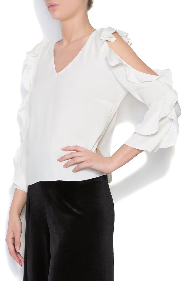 Bluza din crep cu decupaje  Lena Criveanu imagine 1