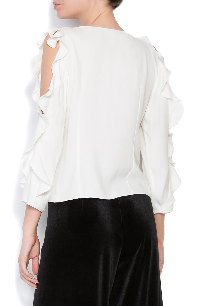 Bluza din crep cu decupaje  Lena Criveanu imagine 2