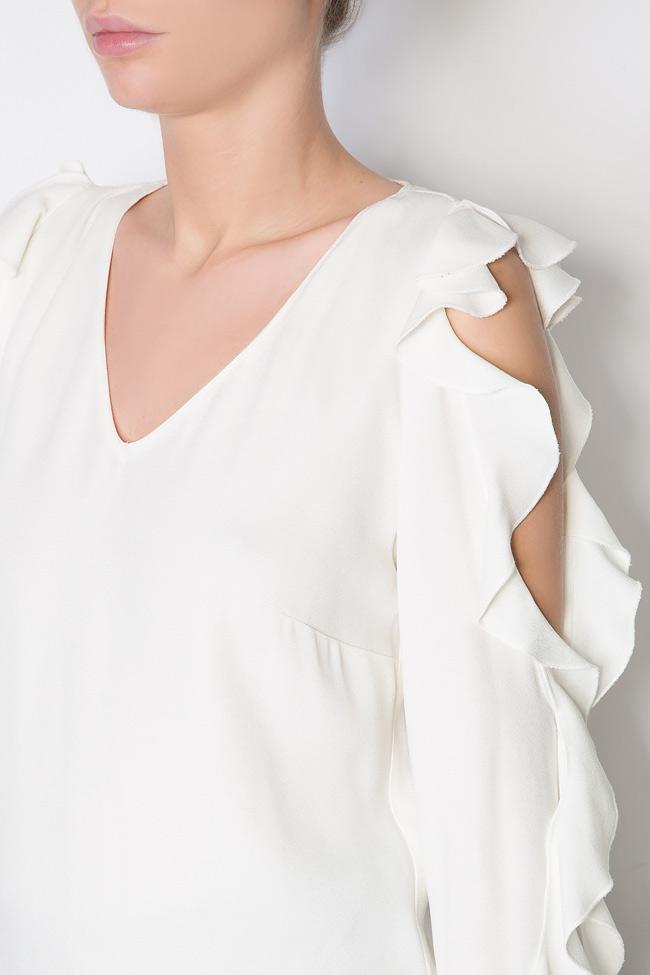 Bluza din crep cu decupaje  Lena Criveanu imagine 3