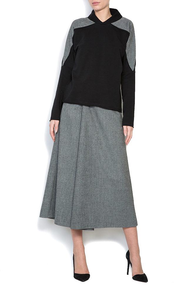 Bluza din jerseu cu insertii din lana Lena Criveanu imagine 0
