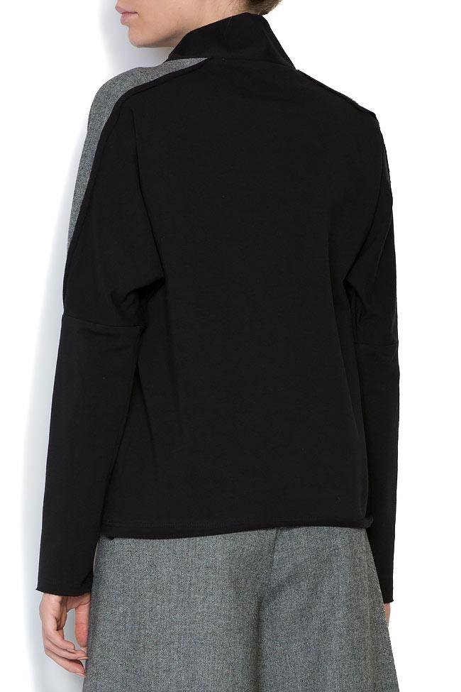 Bluza din jerseu cu insertii din lana Lena Criveanu imagine 2