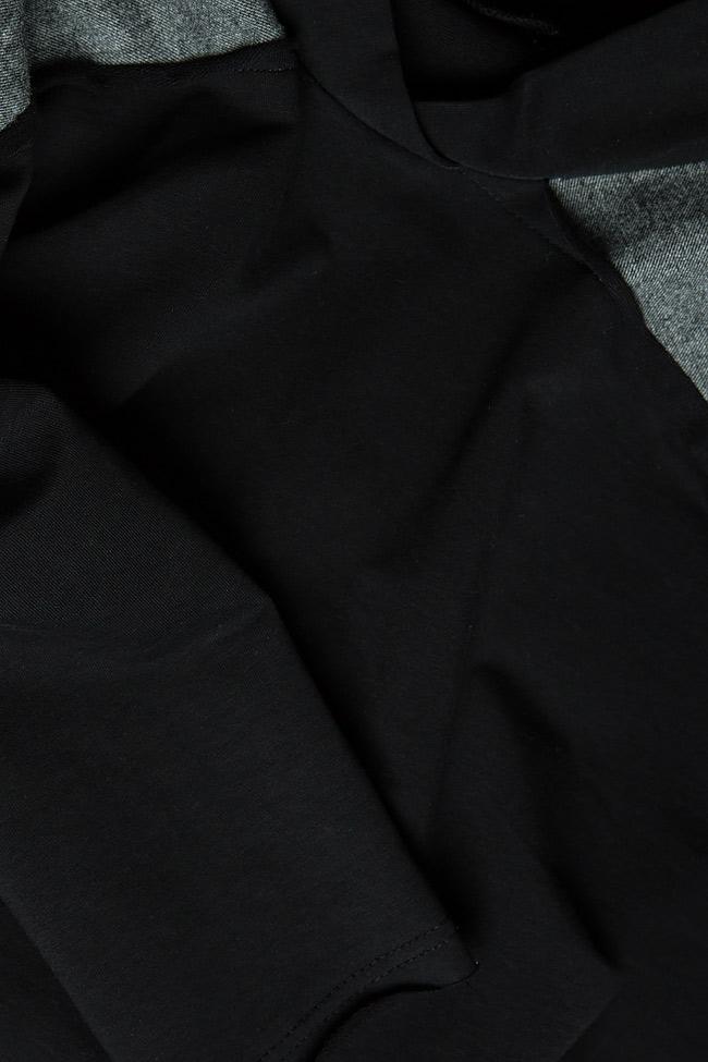 Bluza din jerseu cu insertii din lana Lena Criveanu imagine 4