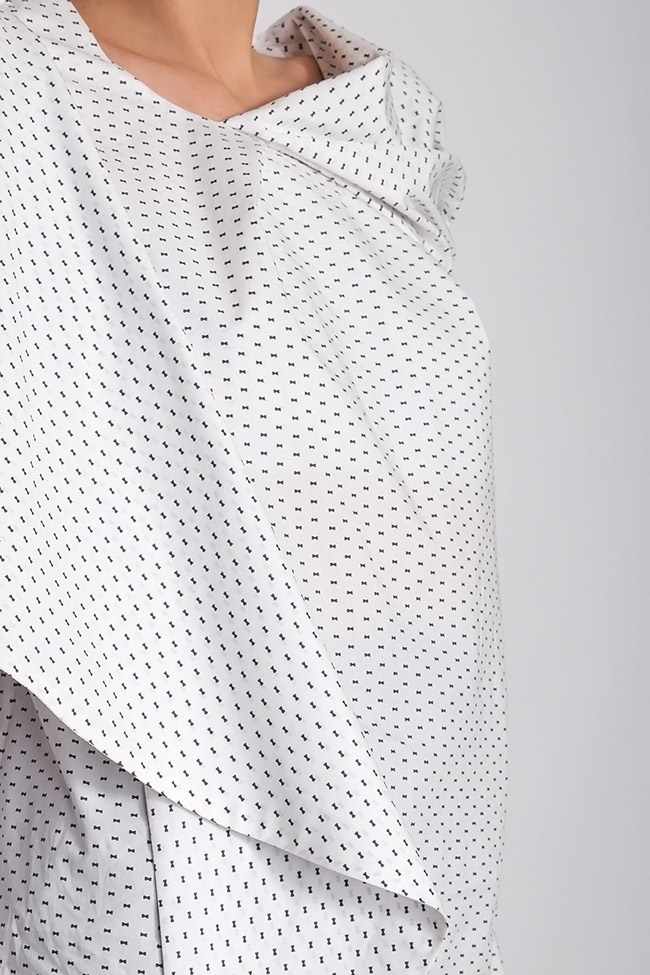 Polka-dot cotton-poplin top Grigori Ciliani image 3