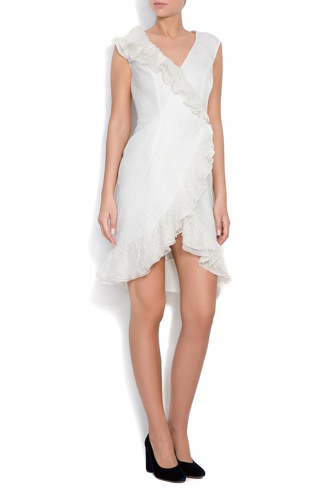 Kryss ruffled lace mini dress M Marquise image 0